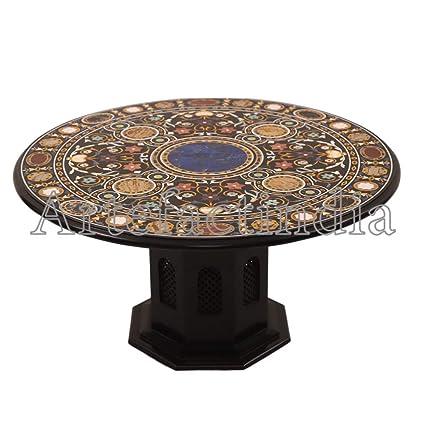 Amazoncom Artefactindia Antique Black Marble Coffee Table To Décor