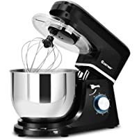 COSTWAY Stand Mixer, 660W Tilt-head Electric Kitchen Food Mixer with 6-Speed Control, 7.5-Quart Stainless Steel Bowl, Dough Hook, Beater, Whisk