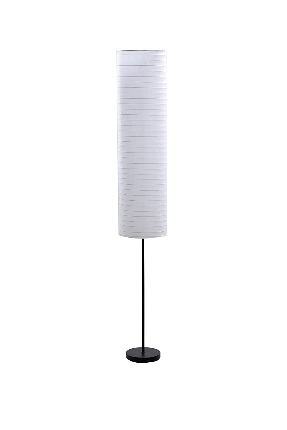 amazoncom catalina paper stick floor lamp with rice paper shade 70inch black home improvement