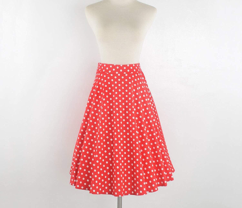 NA Floral Vintage Print Midi Skirts Womens High Waist Cotton A Line Skirt