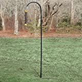Droll Yankees Shepherd Hook, Bird Feeder Hanger Pole Outdoor Hanging Metal Stand, 77 Inch, Black, SEP