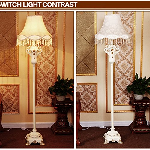 Edge To Continental Living Room Floor Lamp Bedroom Study Creative Fashion Luxury Resin Retro Art Classical Floor Lamp by Edge To (Image #1)