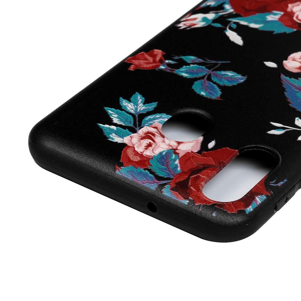 TPU Silikon D/ünn Schutzh/ülle mit Kabelsch/ützer Eingabestift Gemalt Kratzfest Sto/ßfest Durchsichtig Weich Taschen Kompatibel f/ür Samsung Galaxy M20 Handyh/ülle Eule
