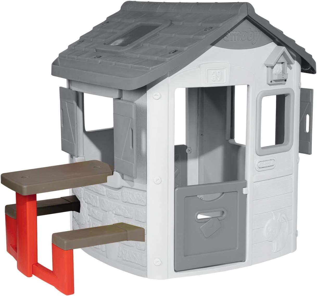 Smoby-Mesa de exterior para Jura Lodge II (810902) Accesorio casita, color rojo , color/modelo surtido