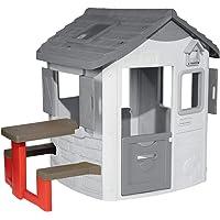 Smoby 810902 Neo Jura Lodge Picknicktisch, rot, grau