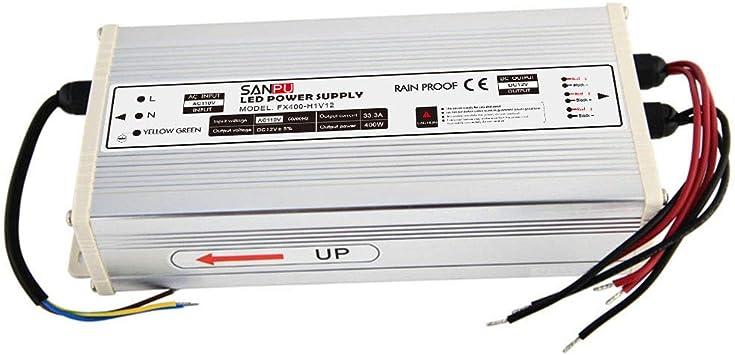 400W DC 12V//24V Switch Power Supply Transformer Driver Adapter for LED