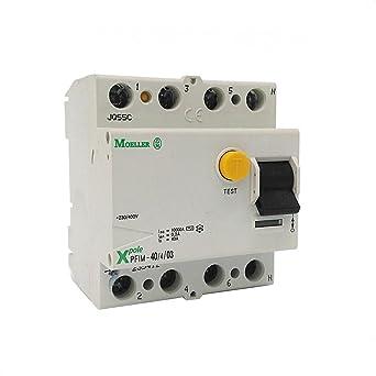 EATON PFIM-40/4/03-MW Interruptor Diferencial PFIM, 4P, 40A, 300 mAh, Caja de 3: Amazon.es: Industria, empresas y ciencia