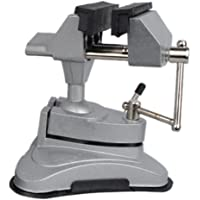 NUZAMAS Multi Angle Swivel Head Table Top Vice Clamp With Suction Base