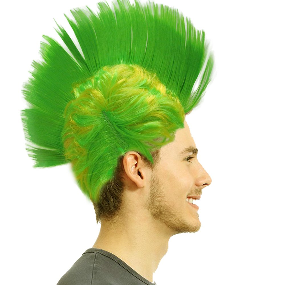Light-up Blinking LED Party Wig – Rave Halloween Party Costume – Green Toy Cubby