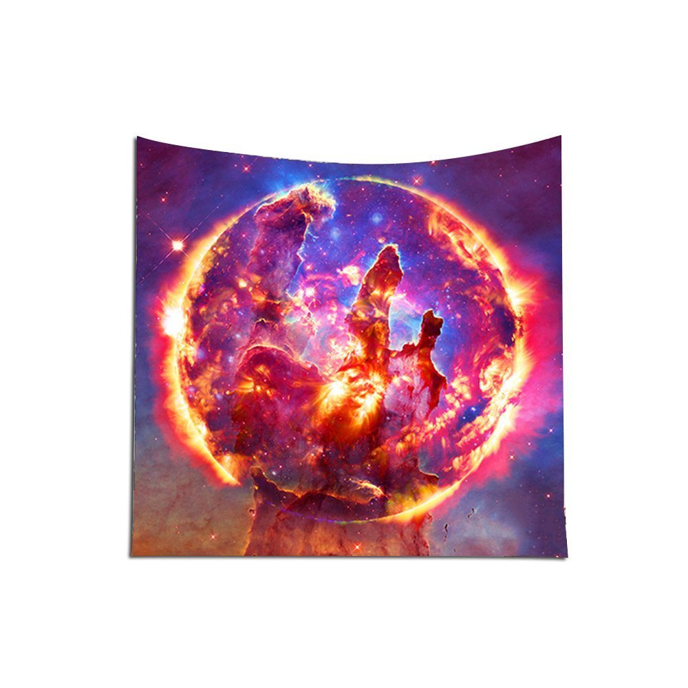 1# Galaxy Forest Star Tapestry Wall Hanging Space Galaxy NebulaTapestry Mandala Indian Tapestries Hippie Print Tapestry Decorative Tapestry Hippy Decor For Beach Throw Blanket Home Decor HYC10
