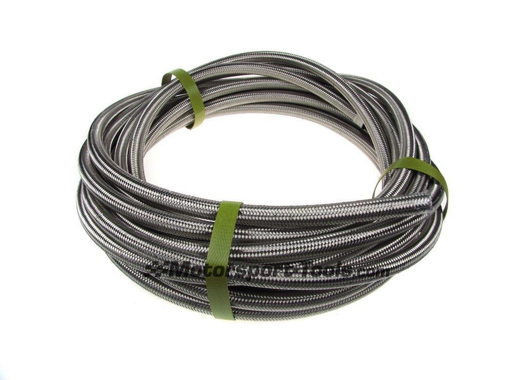 Motamec Stainless Steel Braided Fuel Hose For Push On Fittings 8mm ID x 1m Meter