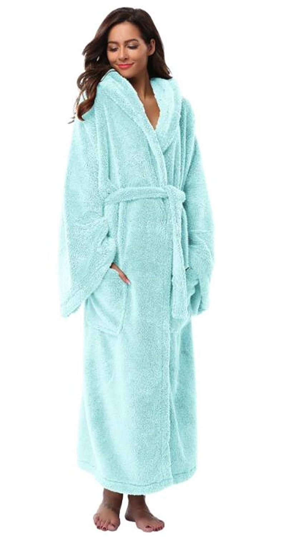 bluee Julitia Winter Thick Warm Women Robes 2018 Coral Fleece Sleepwear Long Robe Woman Hotel