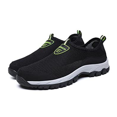 0b303ca21cf GOMNEAR Mens Water Shoes Quick Drying Lightweight Walking Sneaker Beach  Swimming Fishing Boating Casual Footwear Black
