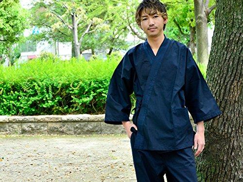 Edoten Men's Japan Kimono Ninjya Cotton100% Samue Nevy XXL by Edoten (Image #7)