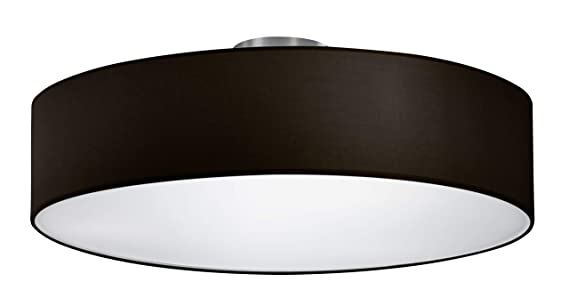 Trio Lighting 603900302 Lámpara de techo Stoffschirm Schwarz, Negro, 50 cm