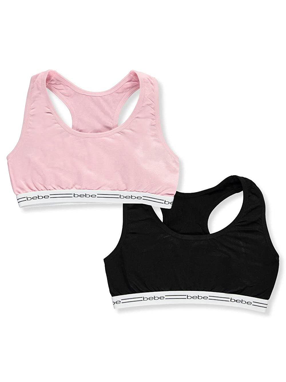 bebe Girls' 2-Pack Seamless Sports Bras