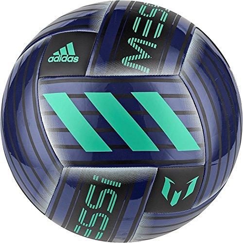 adidas Messi Q2 Soccer Ball, Uniink/Black/Hiregr, Size (Soccer Ball Logo)