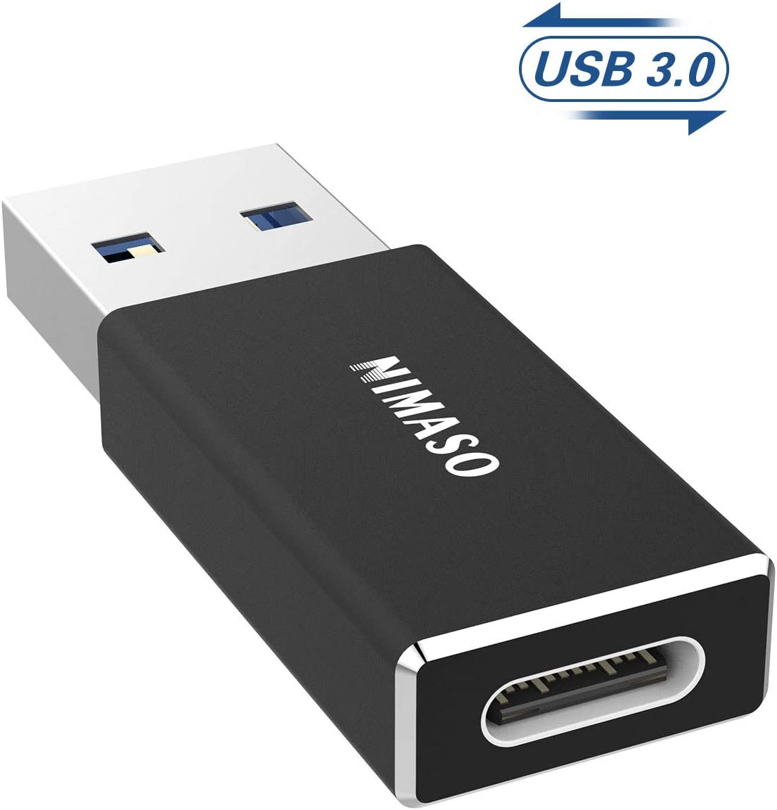 NIMASO USB C to USB 3.0 Adapter, USB C Female to USB A Male Connector, USB C 3.1 gen 1 (USB 3.0) Adapter 5Gbps / 640MBps Work with Laptops, Chargers and More Devices with Standard USB A Interface