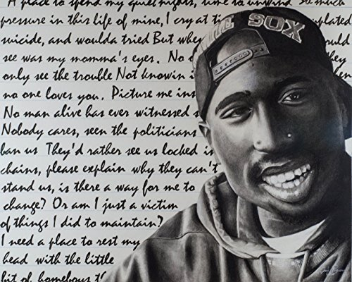 Tupac, Original and Prints, 16X20 by Artwork by Josh Pugeau