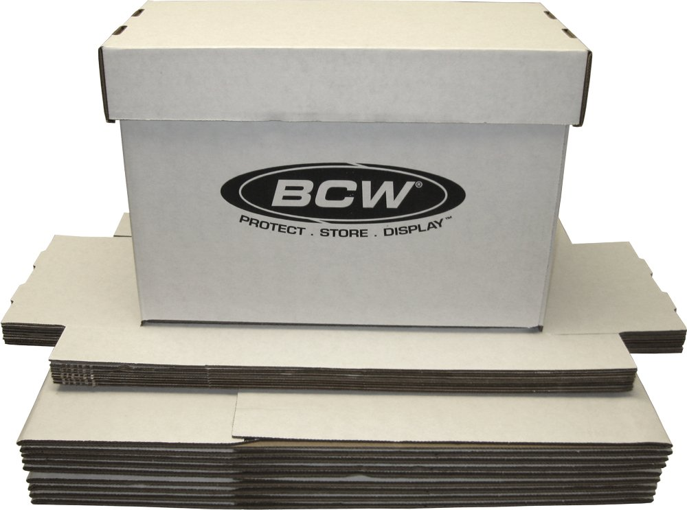 (10) BCW Brand SHORT Comic Storage Box - Holds 150 - 175 Comic Books - CXBCSHORT by BCW Diversified AX-AY-ABHI-27052