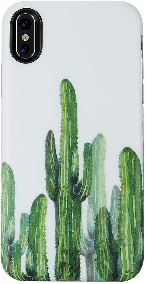 GOLINK Summer Series Slim-Fit Ultra-Thin Anti-Scratch Shock Proof Dust Proof Anti-Finger Print TPU Gel Case for iPhone X/iPhone Xs - Cactus II