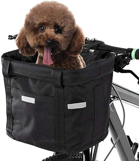 GzxLaY Canasta para Bicicleta con Soporte para Perros, Bolsa ...