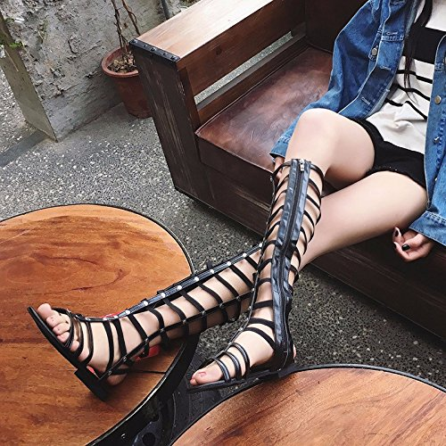 XIAOGEGE Cross-Strap sandalias verano nuevo, calzado plano,UE 37 Eu 38