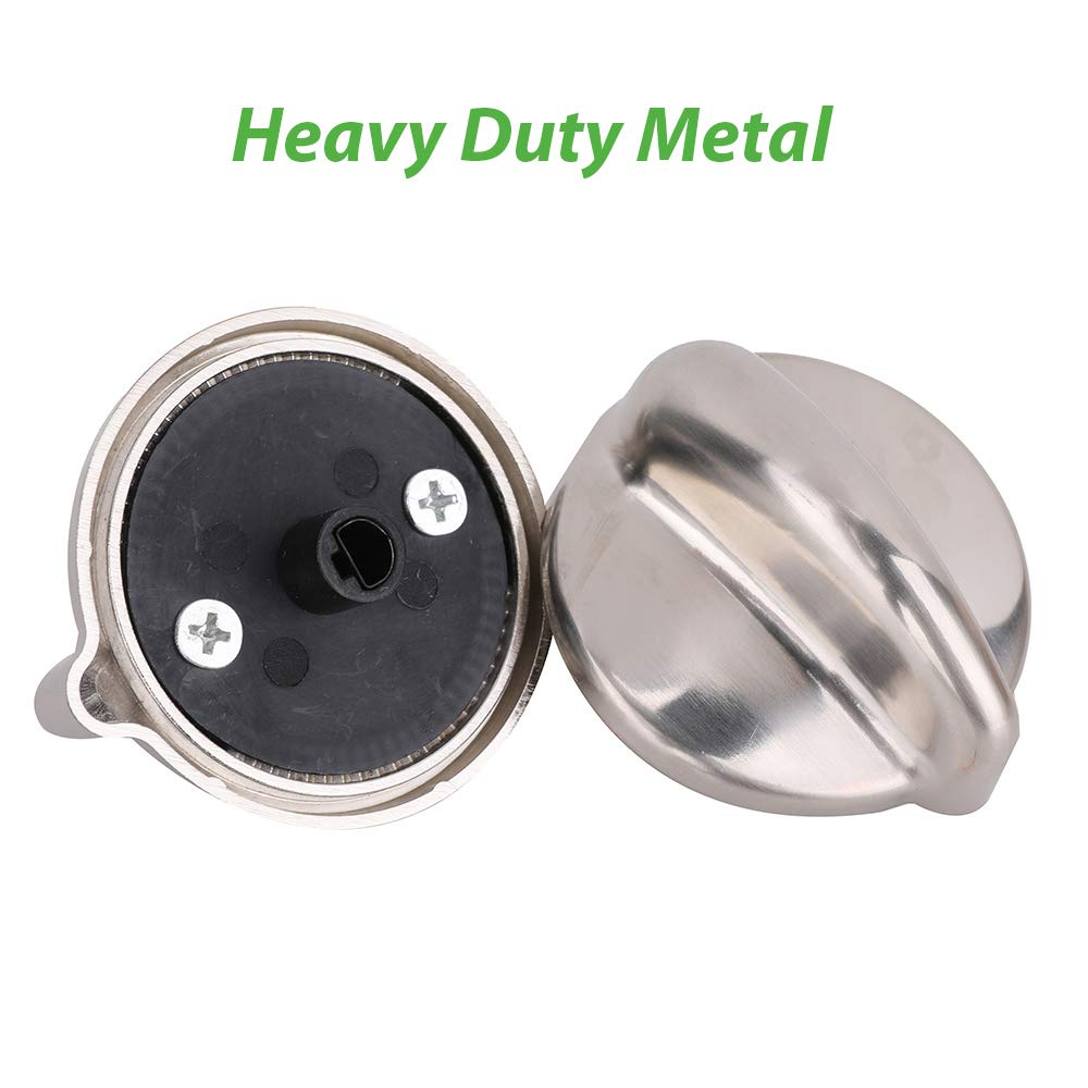 5 Pack WB03K10303 Cooktop Control Knobs Dual Fuel Range Knob Replacement Heavy Duty Metal for GE Gas Range Replace WB03K10208 1810427 AH3486484 AP4980246 EAP3486484 PS3486484