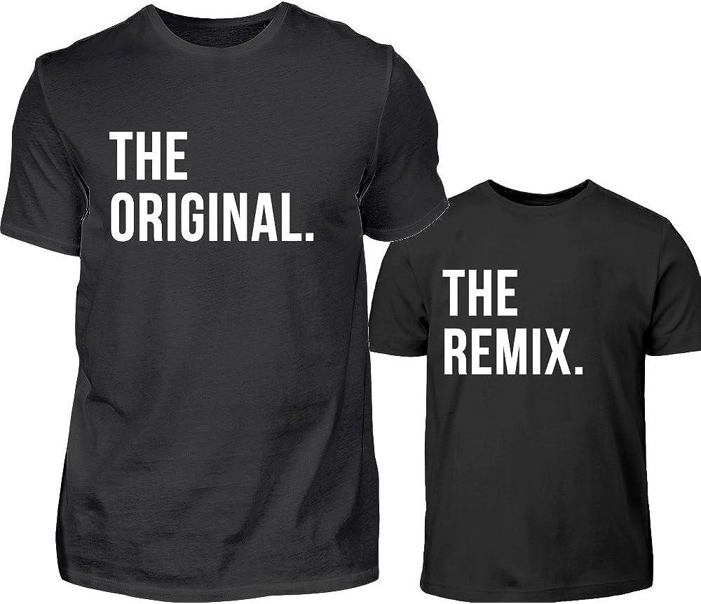 PlimPlom The Original & The Remix Cadeau pour Un Père Et Un Fils Ou Une Fille Père T Shirt Et T Shirt Enfant Ensemble