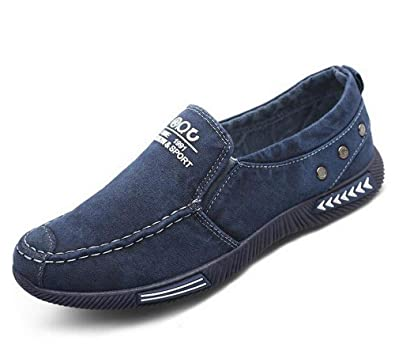 5ac9e06f5fbe7 Amazon.com | Men's Fashion Canvas Shoes Flat Casual Shoes | Shoes
