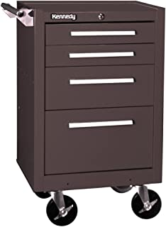 product image for Kennedy Manufacturing 21040B 4-Drawer Roller Cabinet with Tubular High-Security Lock, Brown Wrinkle