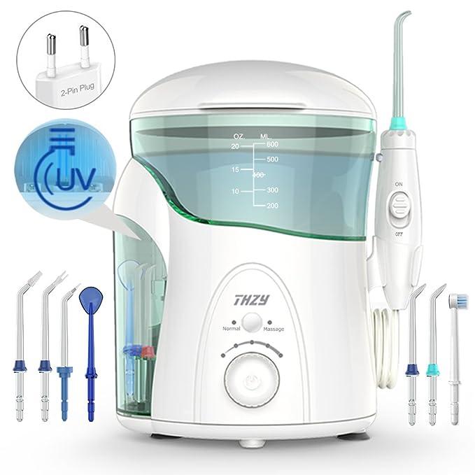 52 opinioni per Idropulsore Dentale con Sterilizzatore UV, THZY Irrigatore Orale 600ml Capacità