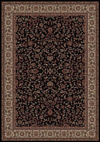 - Oriental Classics Kashan Black Rug Rug Size: Round 5'3