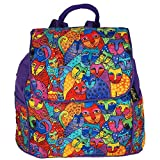 Laurel Burch Feline Tribe Day Pack Backpack Purse For Sale