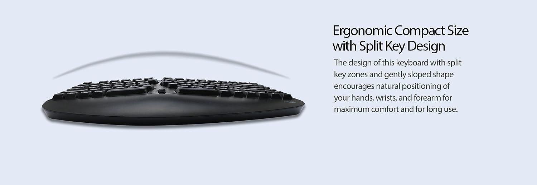 PCK-308UB Adesso Tru-Form Pro Contoured Ergonomic Keyboard with TouchPad