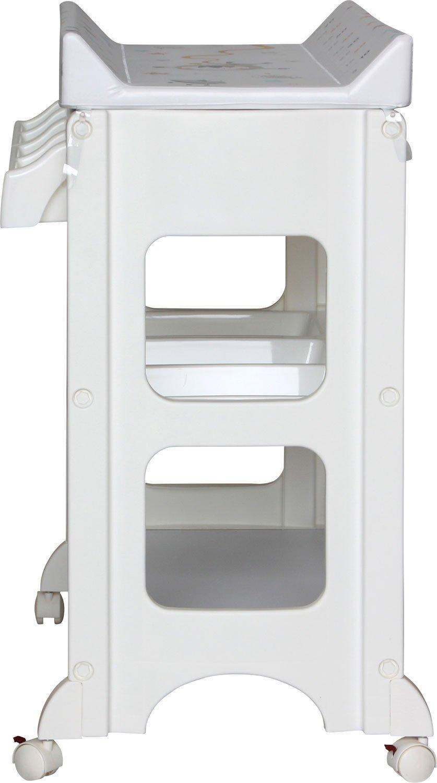Wickeltisch mit Badewanne IB-Style ASTRONAUT Wickelkommode auf Rollen Gro/ße Auswahl