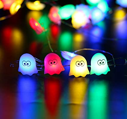 lazylive christmas decorations lights 20 led halloween decoration smiley pumpkin cute ghost lights