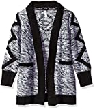 kensie Little Girls' Cardigan Sweater (More Styles Available), Black/White, 6X