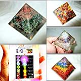Jet Exquisite Four (4) Green Mica Mix Orgone Chakra Layer RCA Chakra Pyramid 1 each Best Offer Free Booklet Jet International Crystal Therapy Crystal Gemstones Copper Metal UPS EXPEDITED SHIPPING