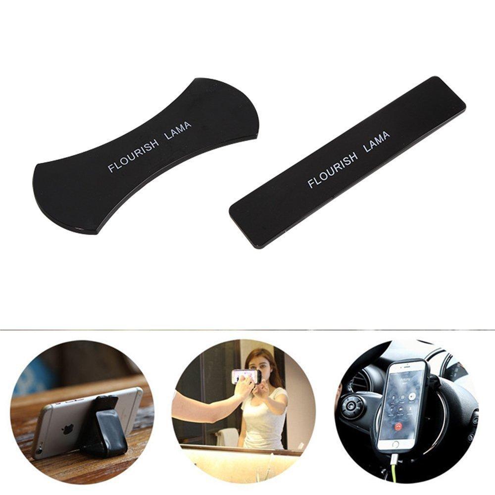 JingyangO Nano Flourish Lama Sticky Bracket Gel Pads Multi-Function Mobile Phone Holder Multifunctional Rubber Anti-Slip Washable Holder sticker (Two In One)