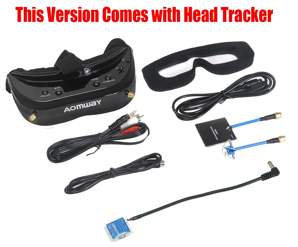 FANCYWING 2019 Newest Version! Aomway Commander V1S Diversity 3D 64CH 5.8G FPV Goggles w/Head Tracker Support DVR by FANCYWING