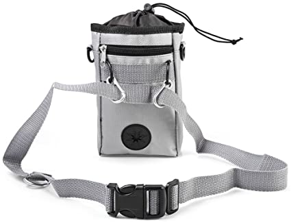 ALPHA DIMA Dog Training Treat Pouch Bag,Dispensador de Bolsas para Recoger Excrementos Integrada,