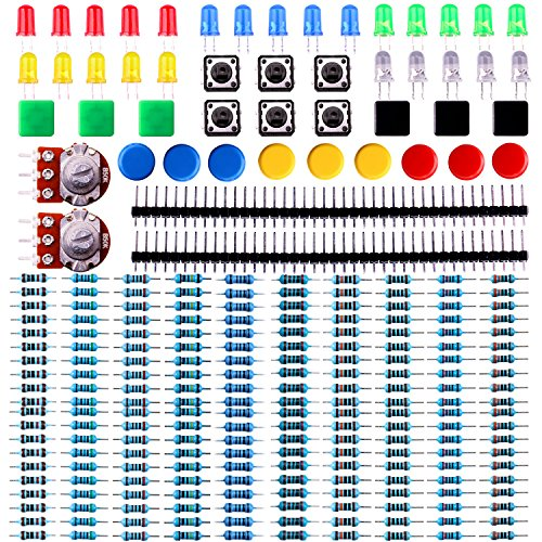 Elegoo-Electronics-component-pack-with-resistors-LEDs-Switch-Potentiometer-for-Arduino-UNO-MEGA2560-Raspberry-Pi