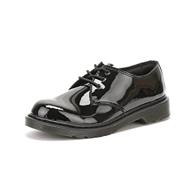 Amazon Com Dr Martens Girls Youth Everley Black Patent Leather