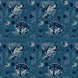 Graphics and More Wolf Wolves Wilderness Forest Southwestern Western Ice Blue Premium Roll Gift Wrap Wrapping Paper