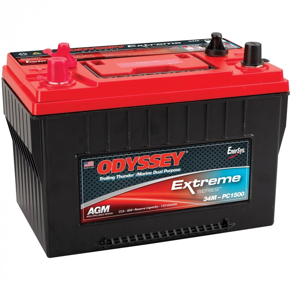 Odyssey Extreme PC1500/34M 850CCA AGM Group 34M Marine Battery 5 Day Wait for Emergency response: Police cruisers, fire trucks, ambulances. 4X4 Off-Road/Off-road vehicles - SUVS, Light trucks. Heavy Duty/Commercial Tractor trailers Earth-moving constructi