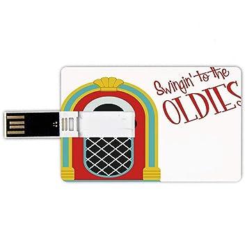 64GB Forma de tarjeta de crédito de unidades flash USB Tocadiscos ...