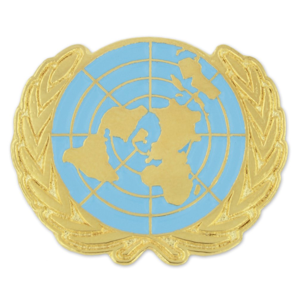 PinMart United Nations UN World Peace Enamel Lapel Pin by PinMart (Image #1)