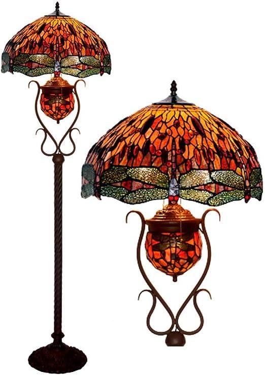 WFTD Lámpara de pie Tiffany, 18 Pulgadas de luz de Piso Hecho a ...