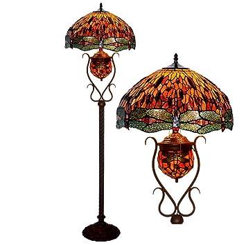 WFTD Lámpara de pie Tiffany, 18 Pulgadas de luz de Piso ...